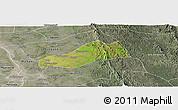 Satellite Panoramic Map of Okpo, semi-desaturated
