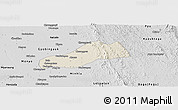 Shaded Relief Panoramic Map of Okpo, desaturated