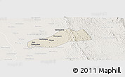 Shaded Relief Panoramic Map of Okpo, lighten
