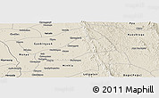 Shaded Relief Panoramic Map of Okpo