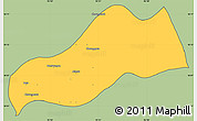 Savanna Style Simple Map of Okpo, cropped outside