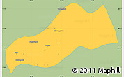 Savanna Style Simple Map of Okpo, single color outside