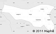 Silver Style Simple Map of Oktwin