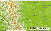 Physical 3D Map of Padaung
