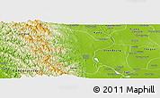 Physical Panoramic Map of Padaung