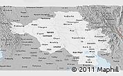 Gray Panoramic Map of Bago (Pegu)