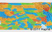 Political Panoramic Map of Bago (Pegu)