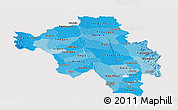 Political Shades Panoramic Map of Bago (Pegu), cropped outside