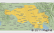 Savanna Style Panoramic Map of Bago (Pegu)