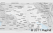 Silver Style Panoramic Map of Bago (Pegu)