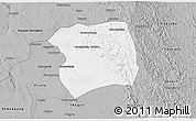 Gray 3D Map of Paukkaung