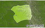 Physical 3D Map of Paukkaung, darken