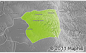 Physical 3D Map of Paukkaung, desaturated