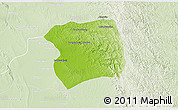 Physical 3D Map of Paukkaung, lighten