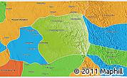 Physical 3D Map of Paukkaung, political outside