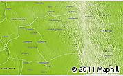 Physical 3D Map of Paukkaung