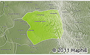 Physical 3D Map of Paukkaung, semi-desaturated