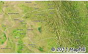 Satellite 3D Map of Paukkaung