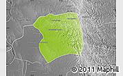 Physical Map of Paukkaung, desaturated