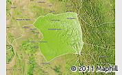 Physical Map of Paukkaung, satellite outside