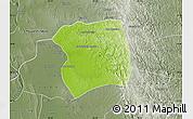 Physical Map of Paukkaung, semi-desaturated