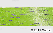 Physical Panoramic Map of Paukkaung