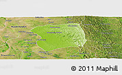 Physical Panoramic Map of Paukkaung, satellite outside