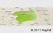 Physical Panoramic Map of Paukkaung, shaded relief outside