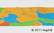 Political Panoramic Map of Paukkaung