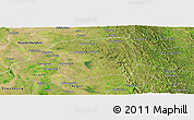 Satellite Panoramic Map of Paukkaung