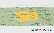 Savanna Style Panoramic Map of Paukkaung