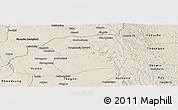 Shaded Relief Panoramic Map of Paukkaung