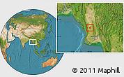 Satellite Location Map of Prome