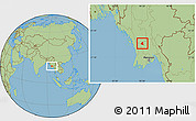 Savanna Style Location Map of Prome