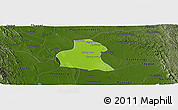 Physical Panoramic Map of Prome, darken