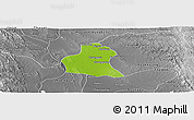 Physical Panoramic Map of Prome, desaturated