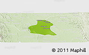 Physical Panoramic Map of Prome, lighten