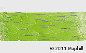 Physical Panoramic Map of Prome