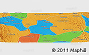 Political Panoramic Map of Prome