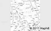 Blank Simple Map of Bago (Pegu)