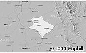 Gray 3D Map of Tharrawaddy