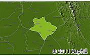 Physical 3D Map of Tharrawaddy, darken