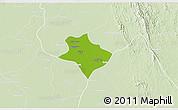 Physical 3D Map of Tharrawaddy, lighten