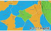 Political 3D Map of Tharrawaddy