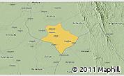 Savanna Style 3D Map of Tharrawaddy