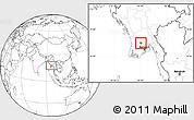 Blank Location Map of Tharrawaddy