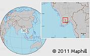 Gray Location Map of Tharrawaddy