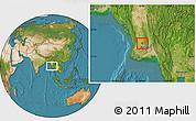 Satellite Location Map of Tharrawaddy