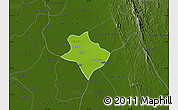 Physical Map of Tharrawaddy, darken