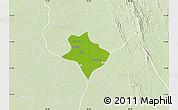 Physical Map of Tharrawaddy, lighten